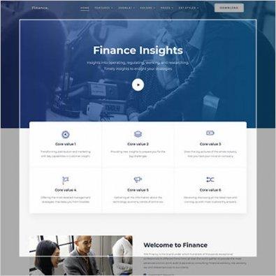 сайт для финансовой компании