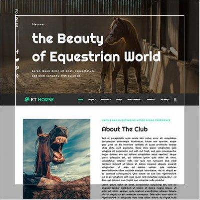 сайт для  конного клуба