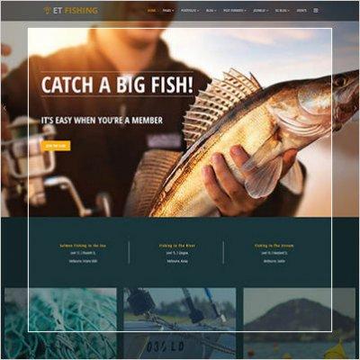 шаблон рыболовного клуба