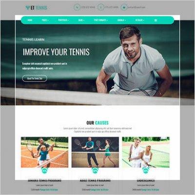 сайт на тему тенниса